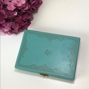 "Vintage Jewelry Box Blue 8""x5.5"""